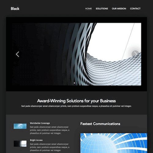 black-1 Web Builder