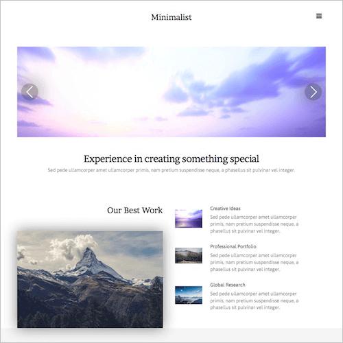 minimalist-1 Web Builder