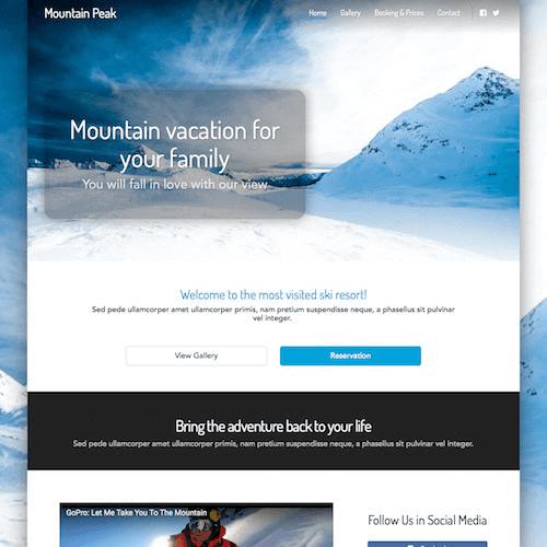 mountain-1 Web Builder