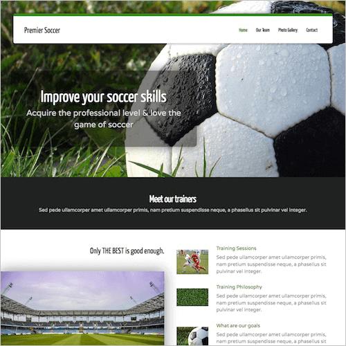 soccer-1 Web Builder