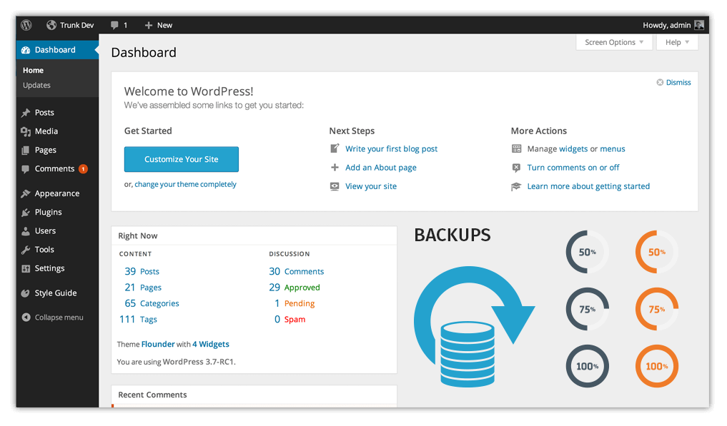 website-backup WebMate Wordpress